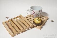 Mini palets con palitos de helado #manualidades #DIY