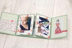 Minialbum aus einem Bogen Cardstock |One Sheet Minibook Tutorial von Melanie Hoch für www.danipeuss.de Scrapbooking Stempeln Mixed Media
