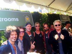W/ pals Doyle Bramhall II, Chad Smith, Duff McKagan, Billy Ray Cyrus & Matt Sorum at John Varvatos, #STUARTHOUSE event, Hollywood