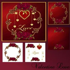Valentine Love by Christine Hart Valentine Love mini kit contains base card, matching insert and matching background paper also included two craft sheets with the elements shown makes a beautiful card