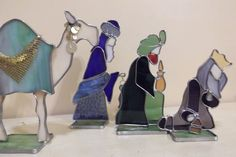3D Stained Glass Nativity by SaltAndLightArts on Etsy