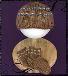 Slip Stitch Preemie Hat & Tiny Toe Up Sockie Pattern Knitting For Charity, Baby Hats Knitting, Fair Isle Knitting, Baby Knitting Patterns, Knitting Socks, Baby Patterns, Knitted Hats, Knitting Videos, Knitting Projects