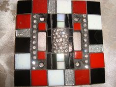 MOSAIC LIGHT SWITCH Plate Cover  Double  Wall by victoriacharlotte