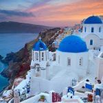 Image of small village Oia, located on beautiful greek island Santorini, during sunset. Free art print of Santorini. Affordable Vacations, Romantic Vacations, Romantic Getaway, Dream Vacations, Mykonos, Santorini Grecia, Oia Greece, Greece Art, Santorini Travel