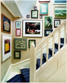 Spray paint and frames go together like PB and J. Really, it's such an easy way to upgrade your gallery wall.  Source: Domino