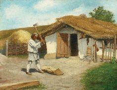 """Pictura zilei: """"Tăietorul de lemne"""" de Ludovic Basarab"""