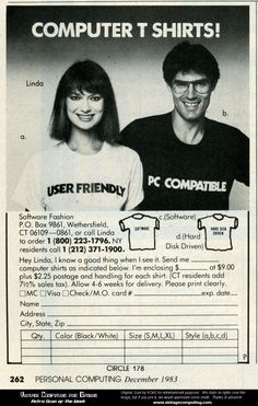 Geek T-shirts from the 80's | Found on mydisguises.com #t-shirts #tshirts #geekstuff