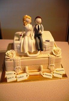 Travel wedding cake!