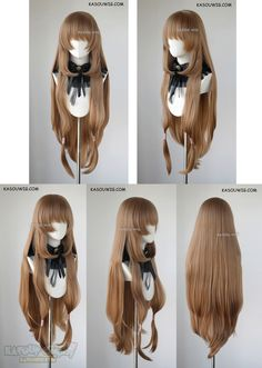 [ Kasou Wig ] The Rising of the Shield Hero Raphtalia long straight brown cosplay wig Anime Wigs, Anime Hair, Cosplay Hair, Cosplay Wigs, Kawaii Hairstyles, Cute Hairstyles, French Braid Short Hair, Kawaii Wigs, Lolita Hair