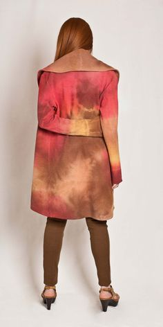 #Tie dye #Summer #Cardigan Hues effect dyed jacket by texturable