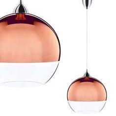 Miedziana LAMPA wisząca GLOBE COPPER M 5764 Nowodvorski szklana OPRAWA kula BALL miedź przezroczysty