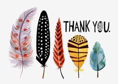 Margaret Berg Art: Five+Feathers+Thank+You