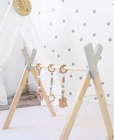 Our handmade modern timber play gyms are perfect to stimulate your baby's senses and are designed to help your baby learn skills such as reaching and grasping as well as increase their muscle d...