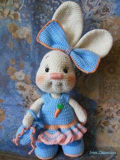 PDF Зайка Злата. Бесплатный мастер-класс, схема и описание для вязания игрушки амигуруми крючком. Вяжем игрушки своими руками! FREE amigurumi pattern. #амигуруми #amigurumi #схема #описание #мк #pattern #вязание #crochet #knitting #toy #handmade #поделки #pdf #рукоделие #заяц #зайка #зайчик #зайчонок #зая #зай #кролик #крольчонок #rabbit #hare #lepre #conejo #lapin #hase