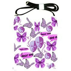 Invisible Illness Collage Shoulder Sling Bag from Fun With Fibro