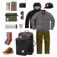 Topo Goods Wool Shirt  |  Mountain Jacket  |  Travel Bag  |  Backpack Tote  | Ranger Hat  |  Accessory Bag Friends of Topo Doane Paper Notebook  |  Zeal Optics
