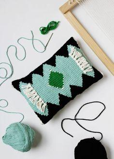 DIY Woven Pillow, by Rachel Denbow for A Beautiful Mess