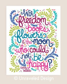 11x14in Oscar Wilde Quote Illustration Print. by unraveleddesign, $35.00