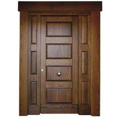 puerta cedro teñido natural tratamiento al agua con fijos ciegos