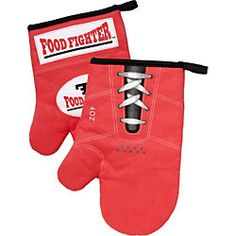"""Martial arts funnies. Boxing glove oven mits ($18.95) """"Freedom to feel powerful even in the kitchen"""". Fathers day gift ideas #boxing"""