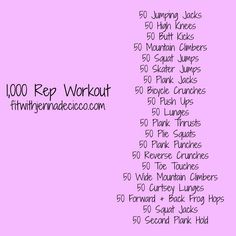 1,000 Rep Workout {no equipment} fitwithjennadecicco.com