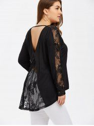 SHARE & Get it FREE | Plus Size Lace Trim Open Back BlouseFor Fashion Lovers only:80,000+ Items • New Arrivals Daily • Affordable Casual to Chic for Every Occasion Join Sammydress: Get YOUR $50 NOW!