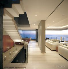 The St Leon 10 residence designed by SAOTA-Stefan Antoni Olmesdahl Truen Architects is a home created for a family with two kids who wanted to own a house Interior Architecture, Interior And Exterior, Luxury Interior, Dream House Exterior, Home Living, Living Room, Modern Living, Living Area, My Dream Home