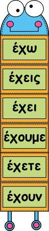 Picture Shape Posters, Greek Language, Grammar, Vocabulary, Classroom, Teaching, Education, School, Bulletin Boards