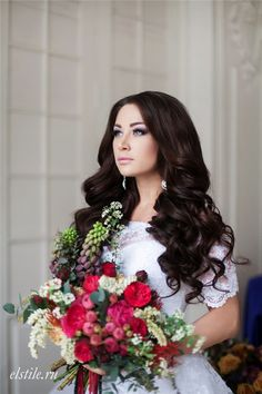 simple cute bridal hairstyle for long hair / http://www.deerpearlflowers.com/26-chic-timeless-wedding-hairstyles-from/