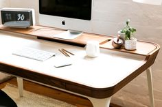 Complete your perfect home office with the Herman Miller Airia Desk, now at a special price until Sunday Home Office, Office Desk, Home Furniture, Furniture Design, Wood Stone, Herman Miller, Bridge, Sunday, Space