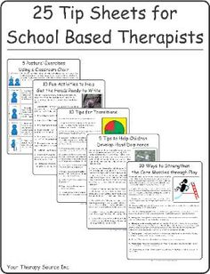5 Postural Exercises Using a Classroom Chair Tip Sheet - Your Therapy Source School Ot, School Social Work, Middle School, School Ideas, Speech Language Pathology, Speech And Language, Pediatric Occupational Therapy, Pediatric Ot, Therapy Tools