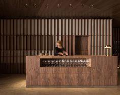 Ricard Camarena Restaurant in Valencia by Francesc Rifé Studio Bar Design, Counter Design, Restaurant Counter, Restaurant Design, Bar Interior, Interior Design Studio, Hotel Lobby, Commercial Design, Commercial Interiors
