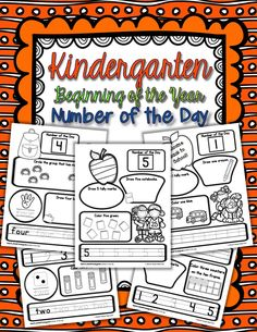Kindergarten Number of the Day is finally here!  It includes twenty pages of practice with number representation!