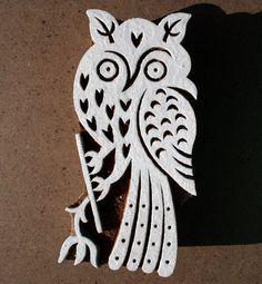 owl block stamp