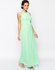 Elise Ryan Pleated Maxi Dress With Lace Sleeve 74