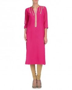 Raspberry Pink Tunic with Pearls