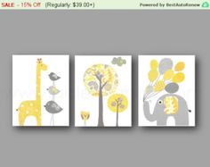 Nursery art print Nursery wall decor baby nursery by GalerieAnais