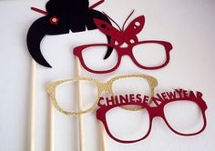 Asian Inspired Photo Booth PropsChinese New by RepublicOfParty, $8.64