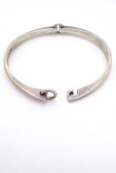 Mid-cemtury Mcm 925 Sterling Silver-hand Hammered Choker-collar Necklace Terrific Value Retro, Vintage 1930s-1980s
