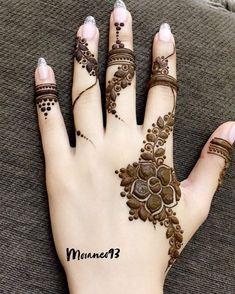 @mooaneo93 • Instagram photos and videos Mehndi Designs Finger, Khafif Mehndi Design, Mehndi Designs 2018, Mehndi Designs For Beginners, Mehndi Designs For Girls, Modern Mehndi Designs, Bridal Henna Designs, Mehndi Design Pictures, Mehndi Designs For Fingers