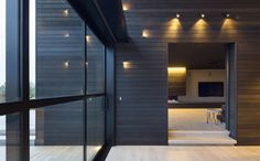 Cladding inside & out - Great device to draw your eye to the framed view outside.