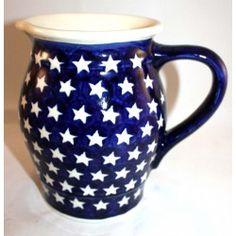 POLISH POTTERY BOLESLAWIEC, AMERICANA -STARS - Collection 1