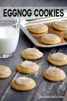 Eggnog cookies is an easy recipe with an eggnog icing. They are soft and almost melt in your mouth. These will get you in the holiday mood. http://fivelittlechefs.com