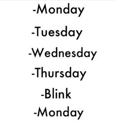 Happends every week.