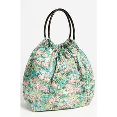 Red Valentino 'meadow Print' Balloon Bag (390 CAD) found on Polyvore