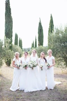 White Charlotte Simpson Bridal Gown & Bridesmaid Dresses - Charlotte…