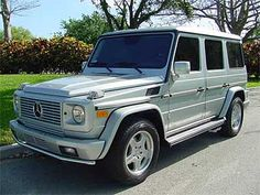 Mercedes Gwagen. To think I actually owned one and traded it for CLS!