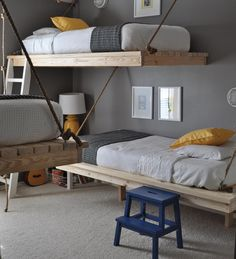 The coolest hanging beds make having to share a room just a little more fun.