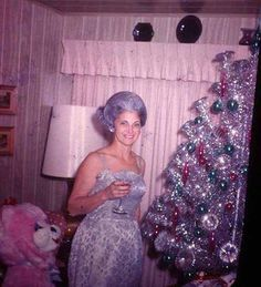 43 Interesting Vintage Snapshots Captured Middle-Aged Women Posing Next To Christmas Trees from the 1950s-60s - Christmas tree is one of the most important ornaments for Christmas. Of course, most of us always want to pose next to for photographing onc...