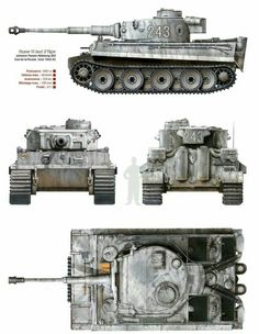 Panzer VI Ausf E Tiger первых серий 1942